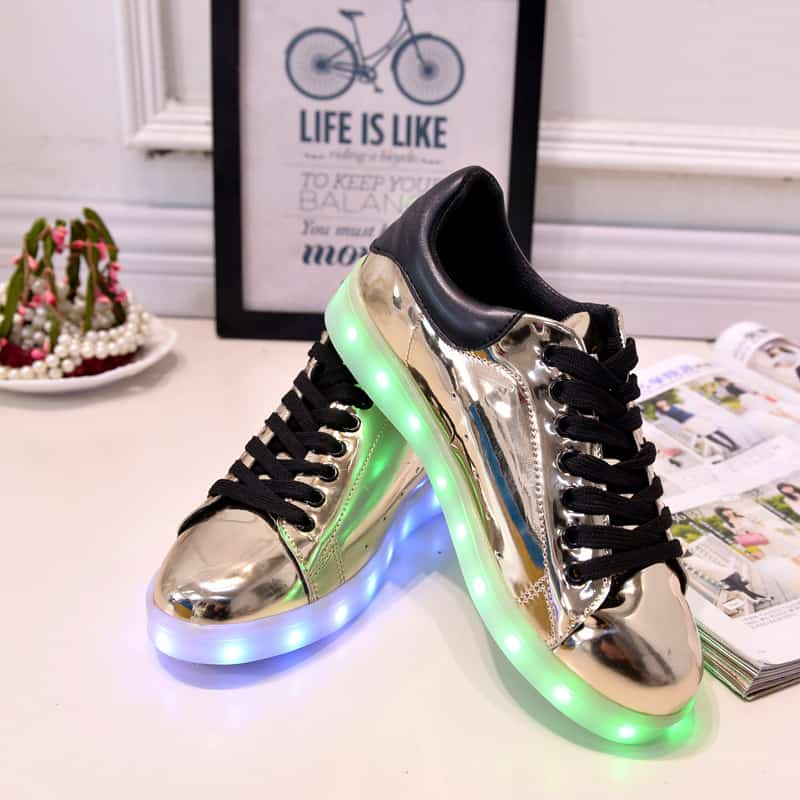 e3ad14f7c9 17 Baby Girls Boys LED Light Sneakers Colorful USB Charging for Kids ...